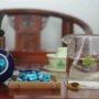 Смола шен пуэра (Ча Гао, Cha Gao) с ароматом жасмина в подарочной упаковке (фарфор)