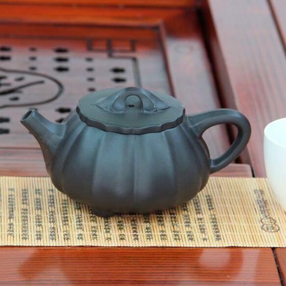 Shi Piao Hu «Ребристая каменная тыква» - чайник из исинской глины 280 мл