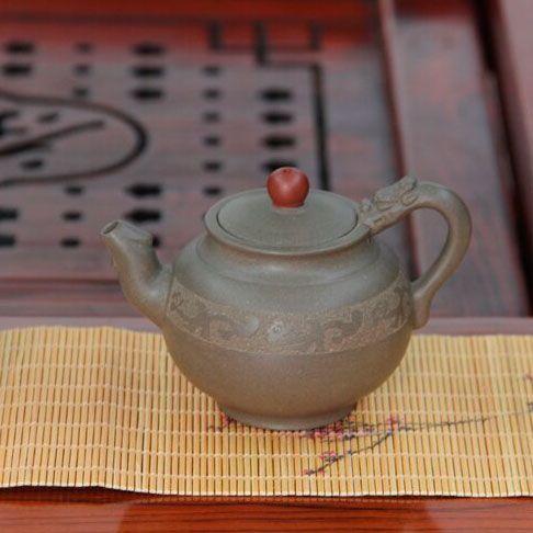 «Удачи вам над головой» - чайник из исинской глины 110 мл