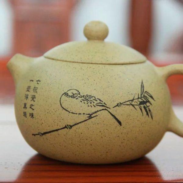 Чайник из исинской глины «Птица Ши-тцу» (Xiao Niao Xi Shi), 241 мл
