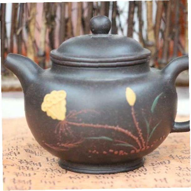 """Исинский чайник - """"Цветок лотоса"""", 210 мл - мастер Wu Wen Cai"""