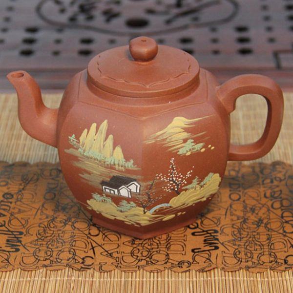 """Исинский чайник - """"Золотой шестигранник"""", около 360 мл"""