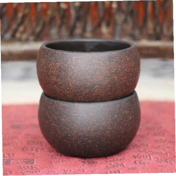 Пиалы из исинской глины «Круглые шашки», 2 шт. по 55 мл