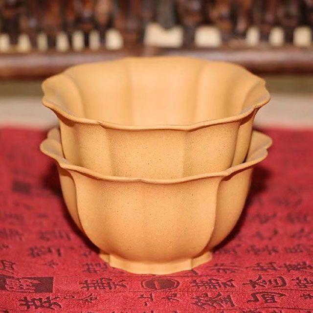 Пиалы из исинской глины «Соединяющая грани», 2 шт. по 50 мл
