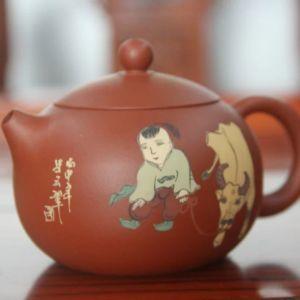 """Исинский чайник - """"Си Ши с ручной росписью"""",  230 мл"""