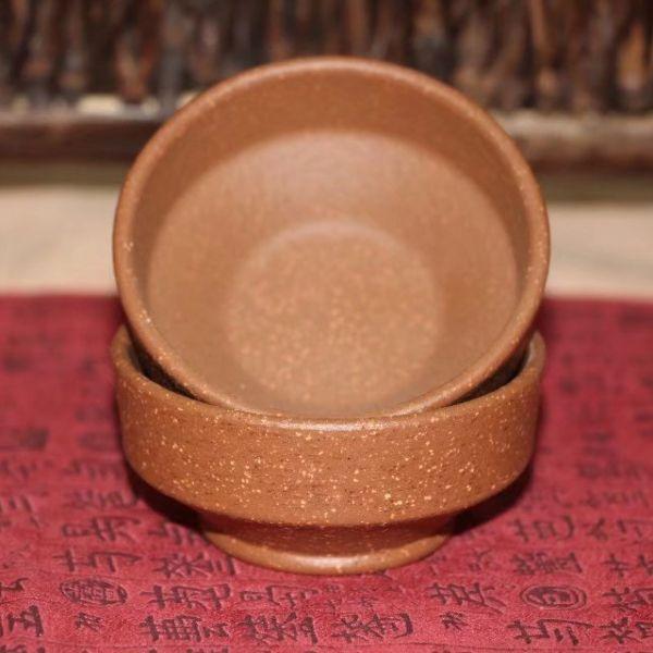 Пиалы из исинской глины «Пёстрый узор», 2 шт. по 60 мл