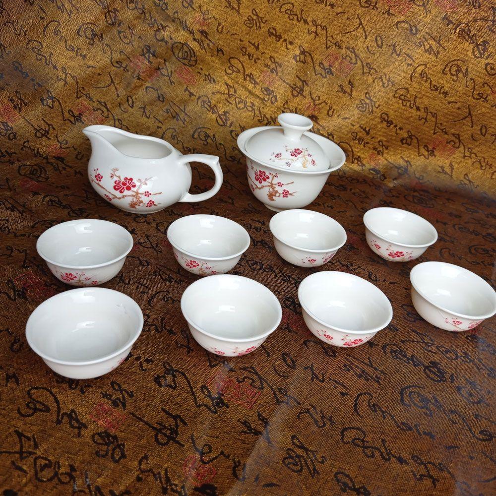 Чайный набор — Благополучие 10 приборов | красный